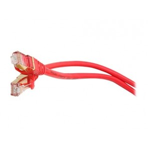 Cat.7  Network Cable - RJ45, Cat.6a  Connector - 1m - red